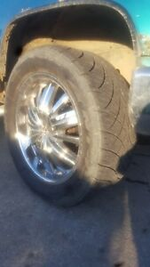 "20"" Alba chrome rims with very good condition nittos"