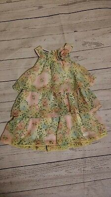 Blueberi Boulevard 12-18 Month Girl Chiffon Layered Dress Easter Spring Floral
