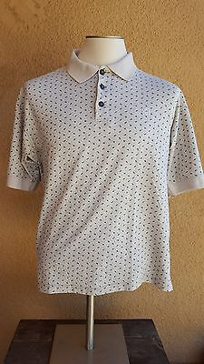 Givenchy Active Wear  Beige Leafly Cotton Blend Polo Rugby Short Sleeve Shirt Xl