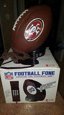 Vintage 90S Official Nfl Football Fone Telephone Tel Com Phone Used