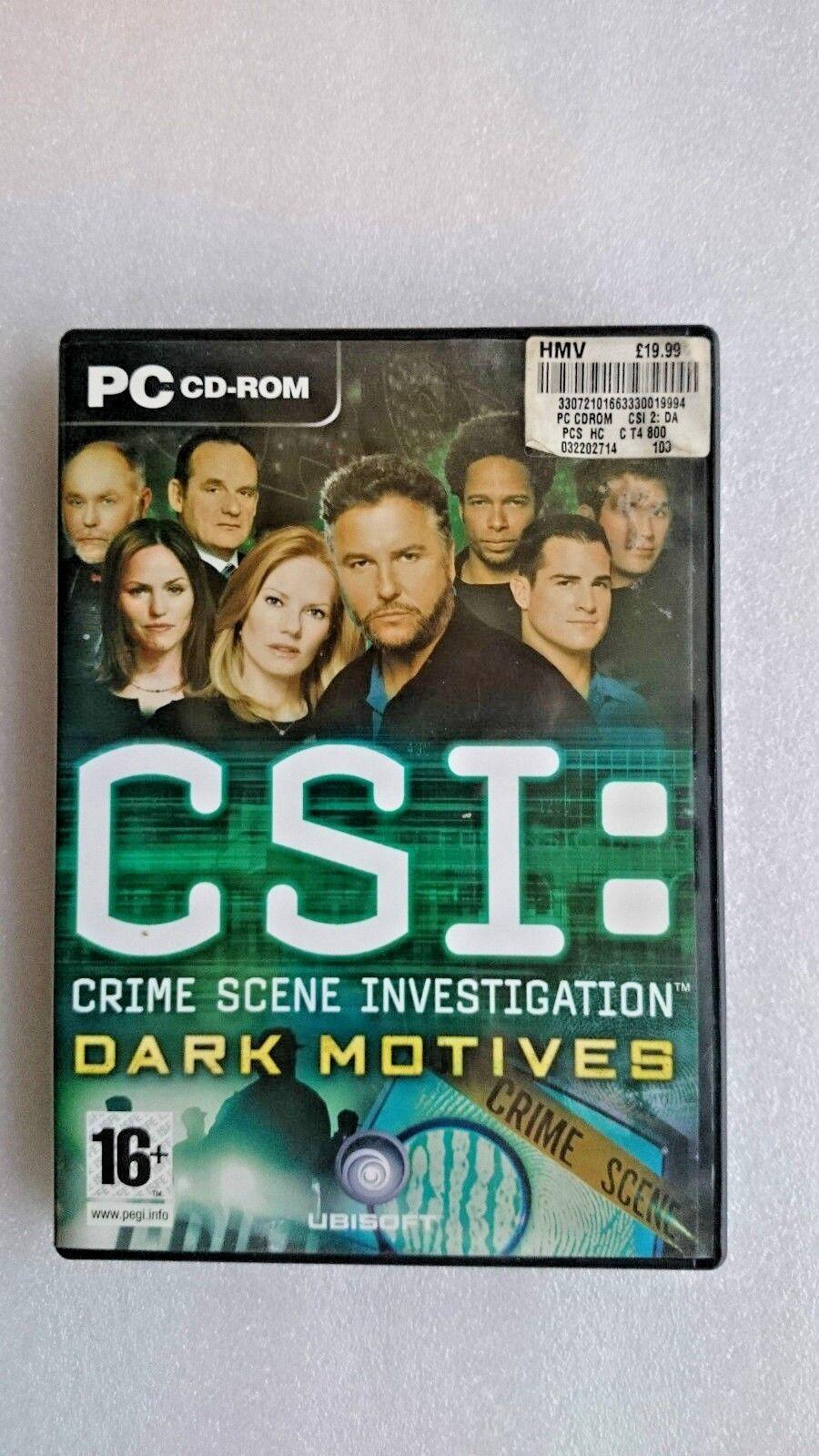 CSI: Crime Scene Investigation: Dark Motives (PC: Windows, 2005)