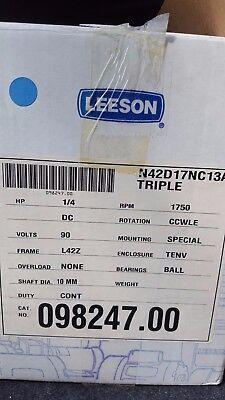 Leeson Electric Motor N42d17nc13a 90vdc 14 Hp 1750 Rpm