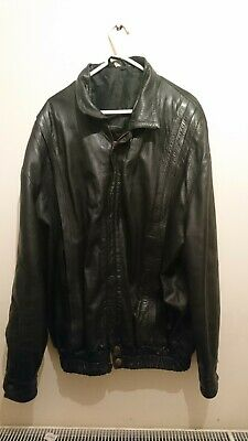 VINTAGE BLACK LEATHER JACKET. SIZE 58. Unknown Maker. Fantastic Style.
