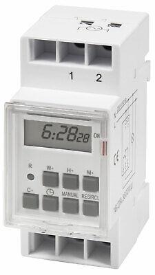 digitale Zeitschaltuhr für Schalttafel Einbau 230V 16A Hutschiene 3500W 10 Progr