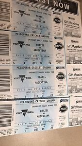 4 Tickets to Argentina vs Brazil - MCG June 9 Redfern Inner Sydney Preview