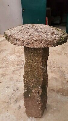 Antique staddle stones. Cornish granite. 36 tall by 20 across Weathered well!