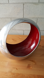 Fruit Bowl - Silver/ Red