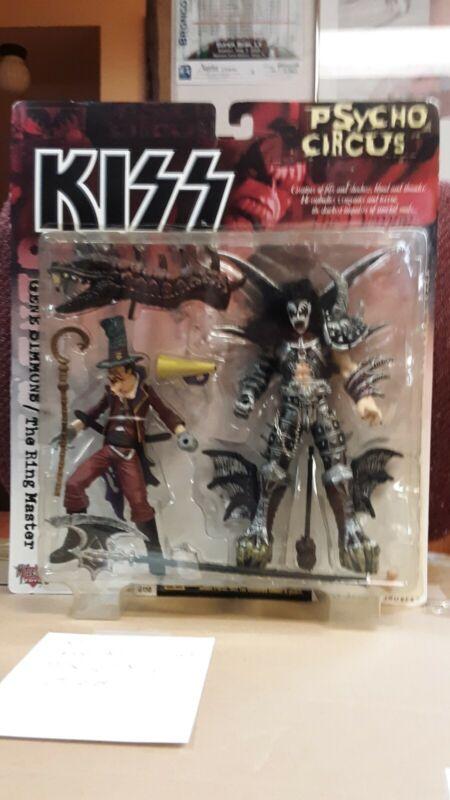McFarland Kiss Psycho Circus Gene Simmons/Demon & Ringmaster Action Figures NIB