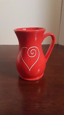 Edible Arrangements Red White Heart Coffee Mug Cup Valentines Day Vase