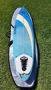 Surfboard with board cover. Buderim Maroochydore Area Preview
