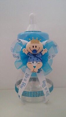Baby Bottle Piggy Bank (Prince Centerpiece Bottle Large Baby Shower It's a Boy Piggy Bank Table)