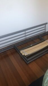Single bed frame and slats. No mattress included