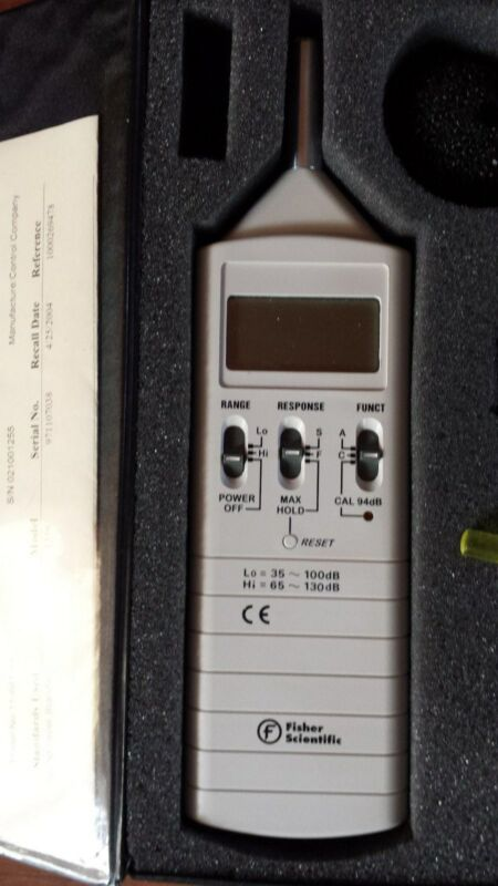 Fisher Scientific Sound Level Meter Model 1356 11-661-6A