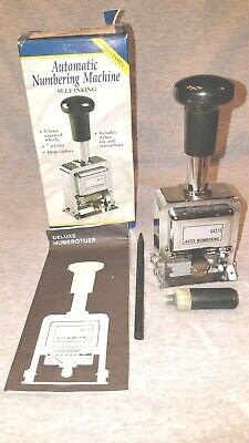 Rogers Automatic Numbering Stamp Machine Self Inking Never Used.