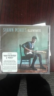 Shawn Mendes CD with Illuminate world tour passport includes treat you mercy New