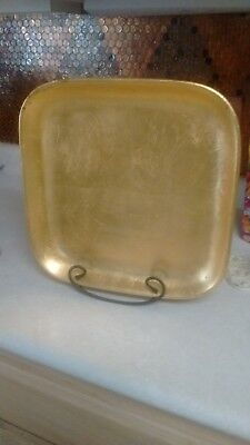 LARGE  GOLD LEAF  PAINTED PLATE