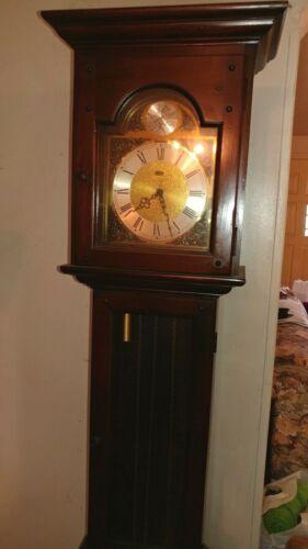 VINTAGE RIDGEWAY GRANDFATHER CLOCK MOVEMENT MODEL 132 G 6 FT. NO PENDULUM AS IS