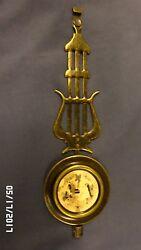 2204M Ornate Metal Clock Pendulum 8.75 Antq Brass Finish Musical Theme Harp??