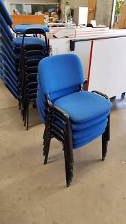 BLUE STACKING CHAIR - reception admin office work study seating