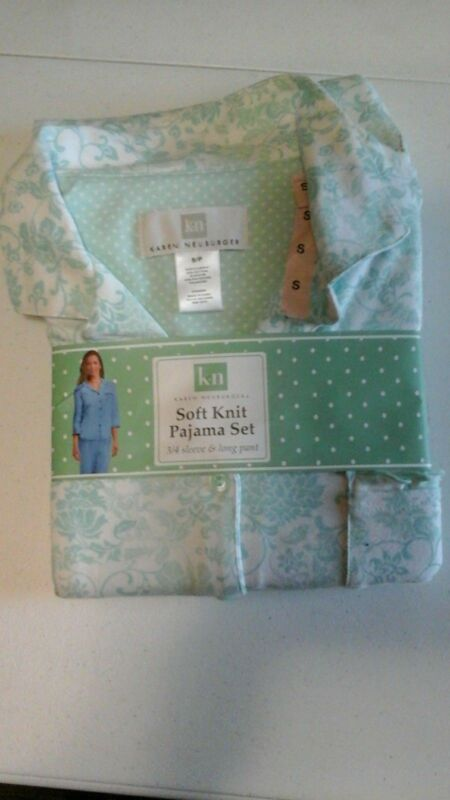 Karen Neuburger Pajamas set Soft Knit 3/4 Sleeve & Long Pants Nwt Free Shipping