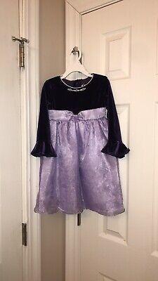 Jona Michelle Girls' Purple Satin/Velvet Dress Child's Size 3T