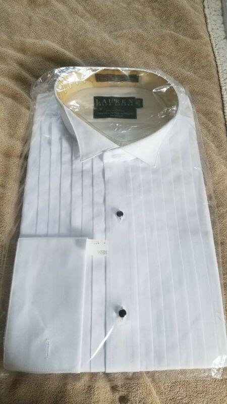 Ralph Lauren 100% Cotton French Cuff Wing Collar Formal Shirt - 16 34/35 NEW
