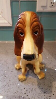 Vintage 1960's White & Chocolate Basset Hound Dog by Breyer Molding Company