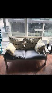 Two Seater Grey Bench