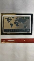 Vintage 1980's Seiko World Time Voice Alarm Desk Clock Japan - Excellent
