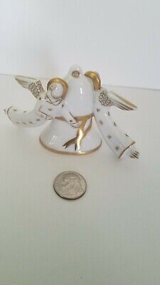 Vintage Herend Angel Christmas Ornament~Neiman Marcus Exclusive~1986. Pristine!
