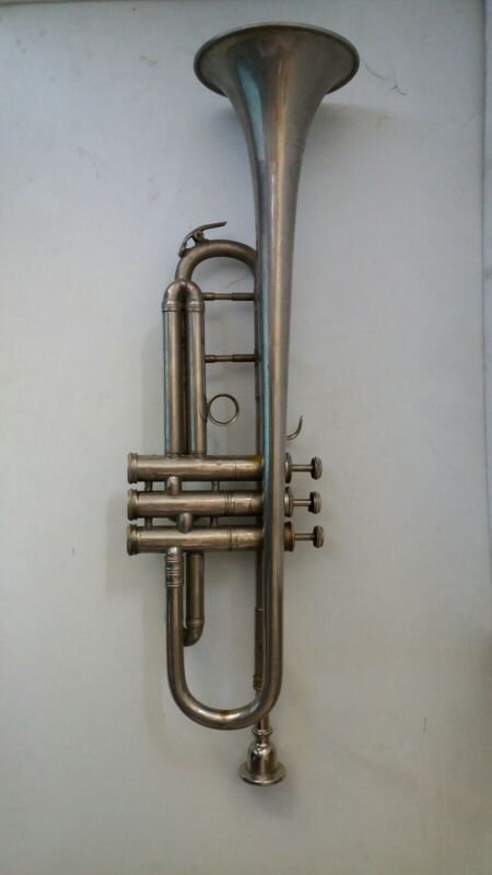 Antique old   brass trumpet