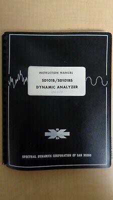 Spectral Dynamics Sd101bsd101bs Dynamic Analyzer Instruction Manual 6f B8
