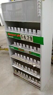 Cigarette Display Rack Shelving. Tobacco Fixture.