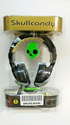 Skullcandy Hesh Headphones Mic A/V DJ 2 over ear headset 50mm bass S6HECY-001
