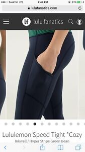 LULULEMON SPEED TIGHTS WITH POCKETS ON SIDES!