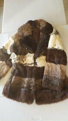 Vintage 1970's Rabbit Fur Coat Womens Size Small City Furs Rare Multicolor for sale  Willits