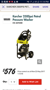 Brand new!! Never used!  Karcher 2500psi petrol pressure cleaner Edgewater Joondalup Area Preview