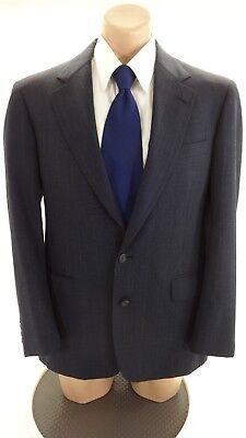 Cricketeer Herren Marine Nadelstreifen Wolle Anzug Jacke Sport Mantel Größe 38R ()