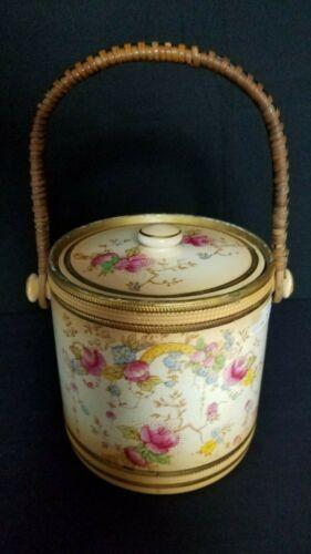 Antique Crown Devon Fielding Porcelain Bisquit Cookie Jar