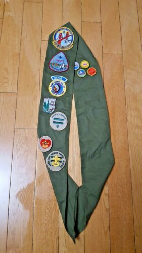 VINTAGE Boy Scout Sash  with merit patches California San Francisco