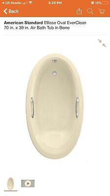 American Standard Ellisse Oval EverClean Air Bath Tub in Bone American Standard Acrylic Oval Tub