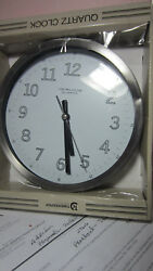 Timekeeper Herloom 9 Round Wall Clock Metal Frame with DENT # 9617