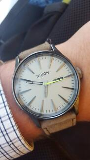 Nixon watch - Sentry leather band - surf watch Cronulla Sutherland Area Preview