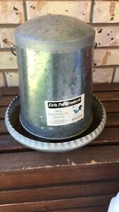 Metal poultry chicken feeder with handle 5kg