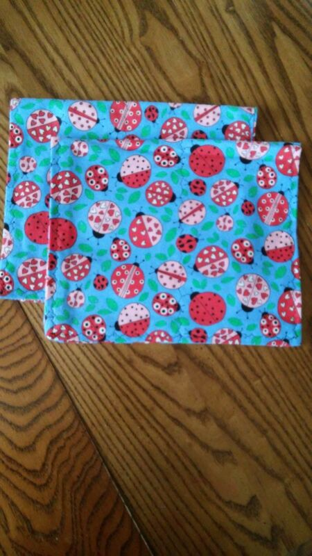 2 homemade flannel burp cloths