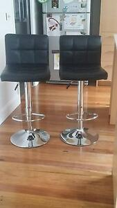 Moving Overseas Set of 2 Bar Stools PU Leather Black For Sale! Bentleigh Glen Eira Area Preview