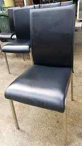 Chairs commercial dining hospitality catering sturdy black vinyl Coburg North Moreland Area Preview