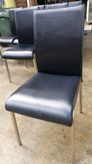 Chairs commercial dining hospitality catering sturdy black vinyl