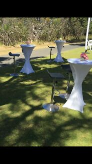 Cocktail table hire $20.00 each free covers