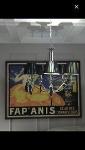 Black shade chandelier (Saint Lazare)